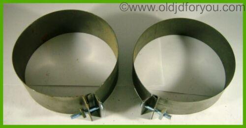 AR11066R 1872638 * John Deere B 50 M 420 Starter Generator Steel Covers * PAIR!