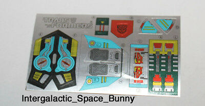 1988 Transformers ORIGINAL Grand Max Inner Shell Sticker Sheet