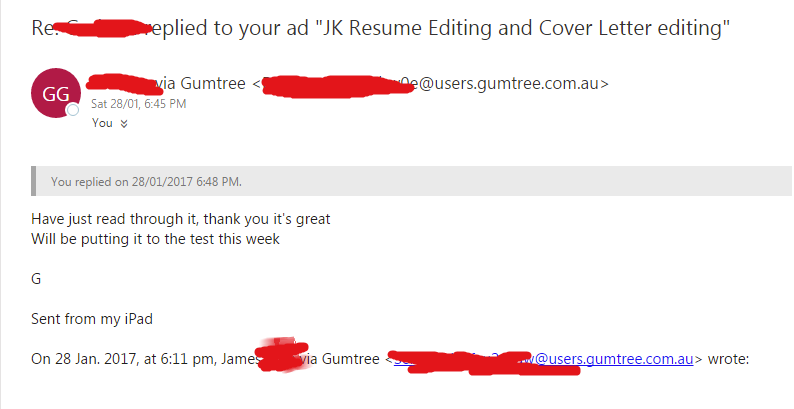 jk resume editing and cover letter editing other business services gumtree australia eastern suburbs maroubra 1136743640