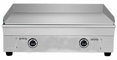 29in 2800pa Lp Gas Commercial Kitchen Countertop Flat Griddle Grill Stainless