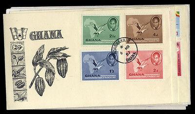 Ghana Nr. 1-4 u.a. FDC (1810012952)