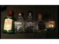 Empty Tequila, Whisky & Rum Bottles