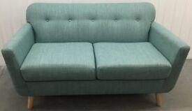 M&S Malmo petite 2-seater sofa Veela Teal fabric RRP £449
