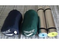 2 sleeping bags from Decathlon and 2 insulated mats in great condition ⛺️🏕⛺️