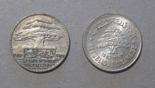 Lebanon - (2) Nice Silver Coins (1936 & 1952)