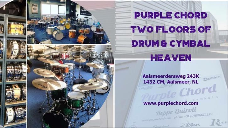 Purple Chord Drums & Cymbals