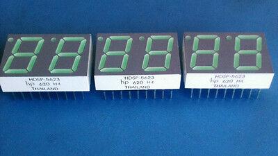 20x Hdsp-5623 Hewlett Packard Led 7-seg 14.2mm 2dig Cc Green Rhd Dip