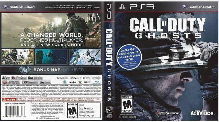 $5.50 - Call of Duty Ghosts PS3 New Sealed PlayStation 3, PlayStation 3 JZ35