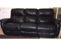 Real Leather Electric Reclining Sofa