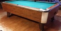 Coin Operated 4 X 8 Slate Pool Table