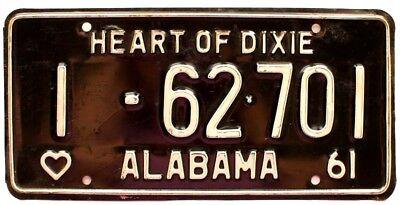 - Alabama 1961 Jefferson County License Plate YOM Beauty Ford Chevy Dodge Pontiac