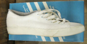 Adidas 1980's White Cotton Sneakers - 9
