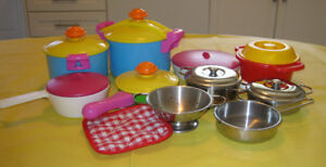 Play Pots & Pans / play Coffee Maker/play Mixer/cooking utensils