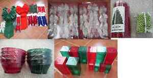 Variety of Christmas Bows, Beads/Garland, Bowls, or Containers