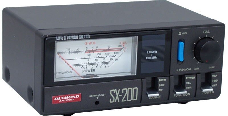 Diamond Antenna SX200 Power / SWR Meter (1.8-200 MHz)