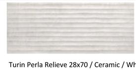 28x70cm Turin perla ceramic wall tile £6m2