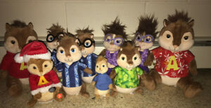 ALVIN, SIMON, THEODORE, PLUSH LOT 1 SINGS CHIPMUNKS $5 & UP