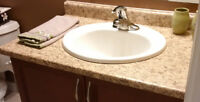 Bathroom Vanity, Sink and Moen Tap