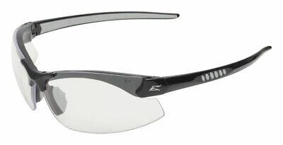 Edge Eyewear  Safety Glasses  Clear Lens Black Frame 1 pc.