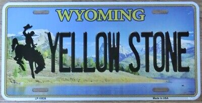 Nummernschild WYOMING Yellowstone 30x15cm USA License Plate Blechschild