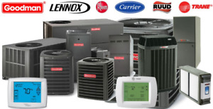 Furnace & Air Conditioner, Tank-less - Rebate up to $5000