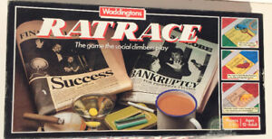 Waddingtons Ratrace Board Game 1984, complete,  Excellent