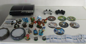PS3 with 7 Games 16 Skylanders 2 Controllers
