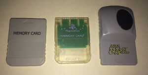Lot of 3 Vintage Playstation Memory Cards $5 for the lot