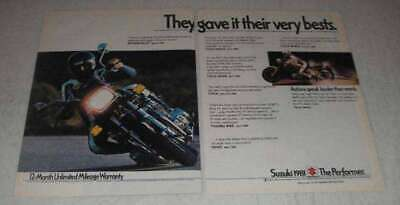 1981 Suzuki GS-1100 Motorcycle Ad - Gave Very Bests