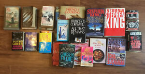 Huge assortment of books, hard and soft cover. $10 for them all!