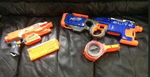 NERF GUNS For Sale (No bullets)... New Batteries Included