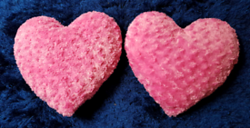 Supersoft Heart Cushions.
