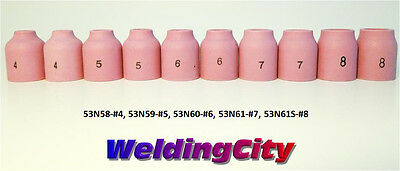 10-pk Tig Welding Gas Lens Ceramic Cup 53n58-53n61s 4-8 Torch 920 Us Seller