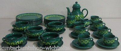 38 Tlg SMF Schramberg ISAR Keramik Majolika Geschirr Essservice Kaffeesevice TOP