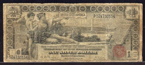 Series 1896 One Dollar Silver Certificate Educational Note $1 VG+ NO PROBLEMS!20