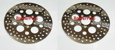 "Harley Brake Disc Rotors 11.5"" Polished Vented Stainless Steel (1 Front, 1 Rear)"