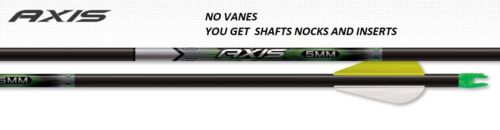 5 MM AXIS SHAFTS WITH X NOCKS AND HIT INSERTS 1/2 DOZEN EASTON