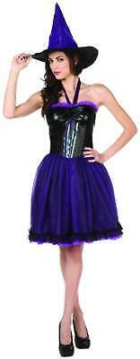 Halloween Costumes With Purple (NEW PURPLE WITCH with WITCHES HAT Adult Womens HALLOWEEN COSTUME size M 8 -)
