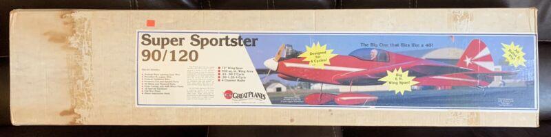 Great Planes Super Sportster 90/120 #3390 Vintage BALSA RC AIRPLANE KIT