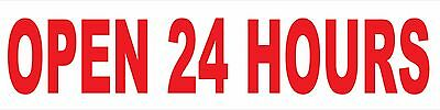 Open 24 Hours Sign Banner Auto Repair Ad 2x8 Automotive Service Tire Store