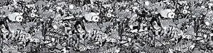 MARVEL COMIC STICKERBOMB Sheet 1000mm X 300MM (SUPERHERO/VW/EUROJDM) BLACK/WHITE