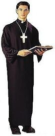 PRIEST/ VICAR FANCY DRESS OUTFIT SIZE M GREAT FOR PARTY OR STAG DO