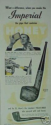 1942 Yello-Bole Imperial Honey Smoking Pipes Promo Ad