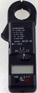 Amprobe ACD-10 Clamp-on Ammeter and VOM like new with case