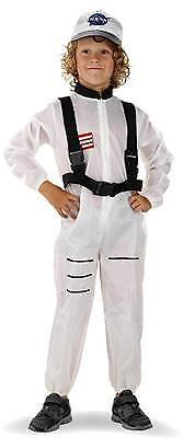 Kinder Kostüm ASTRONAUT Weltraum Anzug Verkleidung Karneval Größe M L Fasching