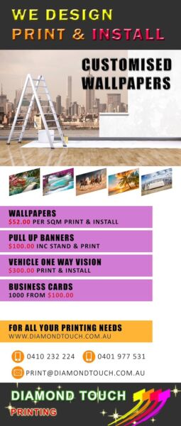 Customised wallpaper banners business cards vehicle 1 way 1 of 10 colourmoves