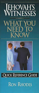 Jehovah's Witnesses: What You Need to Know by Rhodes, Ron -Paperback