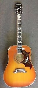 Epiphone Dove Pro Acoustic/Electric Guitar - Violin Burst. Mint.
