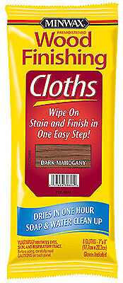 Wood Stain Cloths, Mahogany, Covers 50-Sq. Ft. - Pack of 6