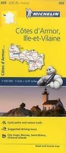 Michelin France: Cotes D'Armor, Ille-Et-Vilaine Map 309 by